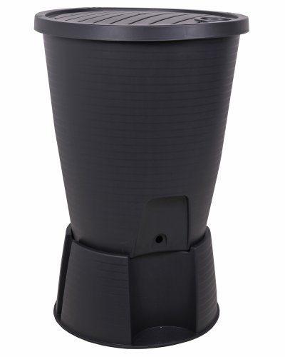 ondis24 regentonne schwarz regenwassertank wasserfass regenwassertonne 220 liter mit deckel. Black Bedroom Furniture Sets. Home Design Ideas