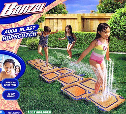 banzai wasserspielzeug tempelh pfen h pfspiel mit dusche f r den garten. Black Bedroom Furniture Sets. Home Design Ideas