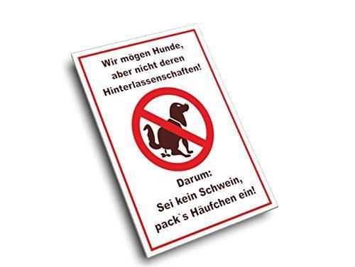 Hundekot Schild - Sei kein Schwein incl ...