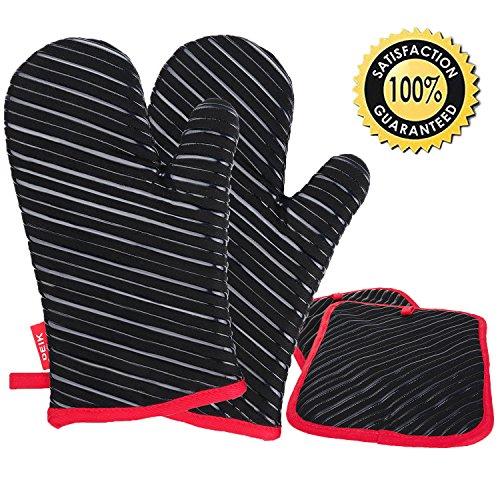 Küchenhandschuhe Profi ~ deik ofenhandschuhe und topflappen,hitzebeständige handschuhe bis zu 240 u2103, silikon anti rutsch