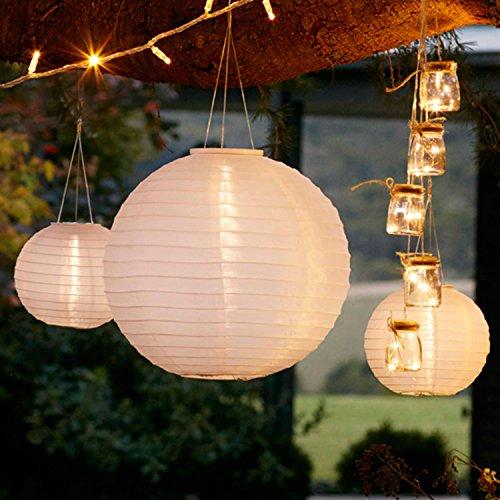 3er set solar lampions solar laterne wei lights4fun f r den garten. Black Bedroom Furniture Sets. Home Design Ideas