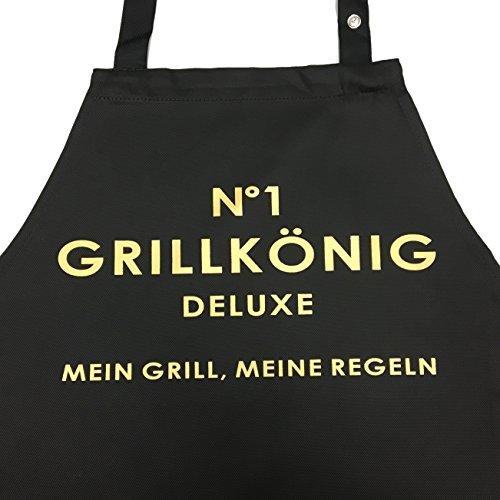 grillsch rze premium mit verstellbarem nackenband und seitentasche n 1 grillk nig deluxe. Black Bedroom Furniture Sets. Home Design Ideas
