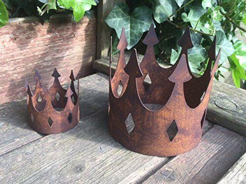 Gartendeko krone gro offen metall rost deko f r den garten for Gartendeko rost krone