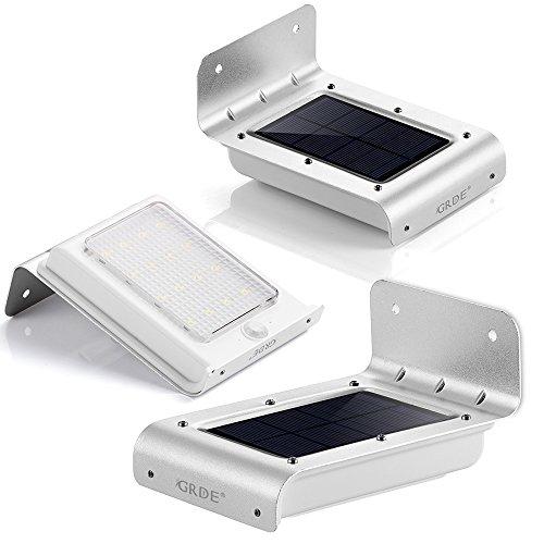 grde 16 led solar w nde lampen au enbeleuchtung solarleuchten gartenleuchte wegeleuchten mit. Black Bedroom Furniture Sets. Home Design Ideas