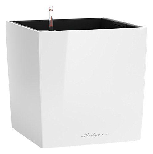 lechuza cube premium 30 pflanzgef mit erd bew sserungs system wei hochglanz 30 x 30 x 30. Black Bedroom Furniture Sets. Home Design Ideas