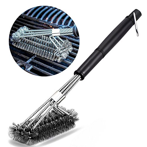 bbq grillb rste bukm 3 edelstahl b rsten profi grillb rste 360 grill cleaner brush perfekt f r. Black Bedroom Furniture Sets. Home Design Ideas