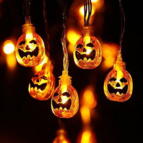 qedertek halloween deko lichterkette k rbis form. Black Bedroom Furniture Sets. Home Design Ideas