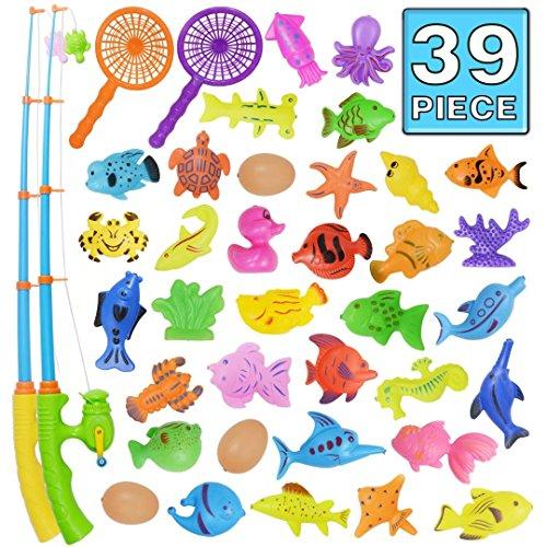 angeln spielzeug badespielzeug 39 st cke magnetisches angeln spielzeug originales farbiges. Black Bedroom Furniture Sets. Home Design Ideas