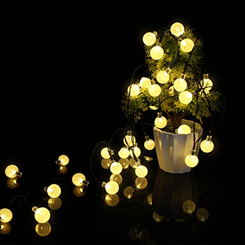 ascher 30er led solar lichterkette garten globe au en warmwei 6 meter solar beleuchtung kugel. Black Bedroom Furniture Sets. Home Design Ideas