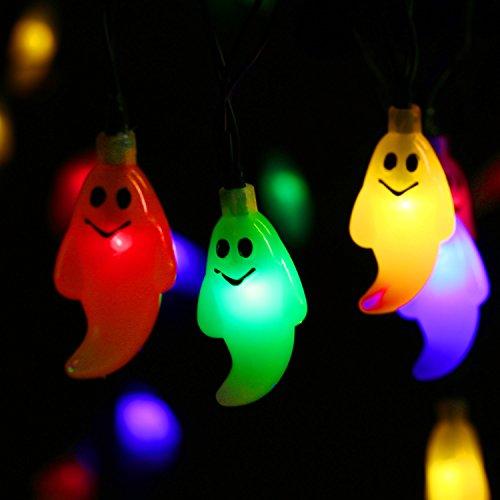 Qedertek halloween dekoration solar halloween lichterkette gespenst form 6 meter 30er led - Dekoration fur halloween ...