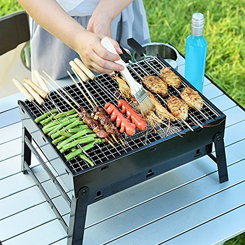 faltbar bbq holzkohlegrill smoker grill uten grillwagen outdoor tischgrills picknickgrill f r. Black Bedroom Furniture Sets. Home Design Ideas