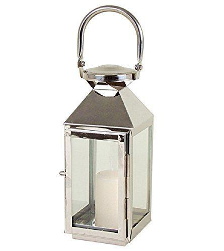 edelstahl laterne windlicht mit glasfenster stilvolle akzente pyramide kerzenhalter ca 10x11x24. Black Bedroom Furniture Sets. Home Design Ideas