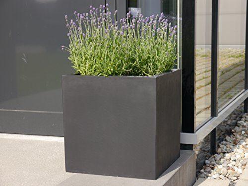 pflanzk bel aus fiberglas quadratisch blumenk bel pflanzgef blumengef pflanztopf. Black Bedroom Furniture Sets. Home Design Ideas