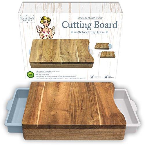 akazienholz schneidebrett mit auffangschale nat rlich schneidebrett antibakteriell. Black Bedroom Furniture Sets. Home Design Ideas