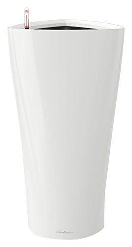 lechuza delta premium 30 pflanzgef mit erd bew sserungs system wei hochglanz 30 x 30 x 56. Black Bedroom Furniture Sets. Home Design Ideas