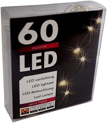 led lichterkette batterie mit timer 60 leds micro tropfen auf biegsamen silberdraht f r den garten. Black Bedroom Furniture Sets. Home Design Ideas