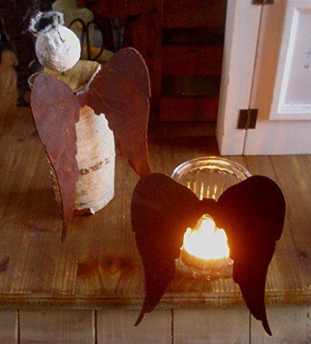 2 engelfl gel metall rost winterdeko engel fl gel for Gartenaccessoires rost