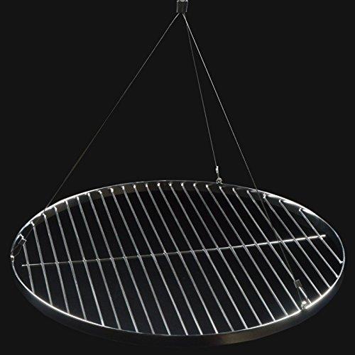 53 cm grillrost rund schwenkgrill rost grill edelstahl mit seil f r den garten. Black Bedroom Furniture Sets. Home Design Ideas