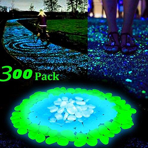 Kieselsteine Garten: Amaza 300 Stück Luchtsteine Leuchtkiesel Kieselsteine