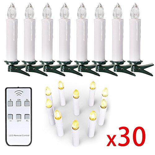 10 20 30 40 er weinachten led kerzen lichterkette kerzen weihnachtskerzen weihnachtsbaum - Lichterkette weihnachtsbaum kabellos ...