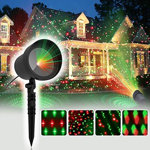 coowoo weihnachts projektor led beleuchtung f r innen und au en weihnachts dynamisch punkte. Black Bedroom Furniture Sets. Home Design Ideas