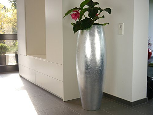 pflanzk bel zen aus fiberglas in hochglanz blumenk bel pflanztopf pflanzgef e 37 x h100 cm. Black Bedroom Furniture Sets. Home Design Ideas