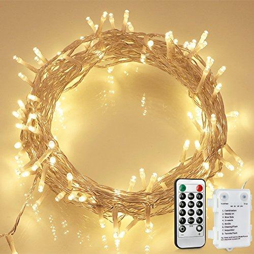 100 led lichterkette mit fernbedienung und timer 8 modi dimmbar outdoor weihnachtslichterkette. Black Bedroom Furniture Sets. Home Design Ideas