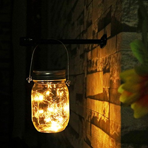 mason jar licht garten licht gartendeko solar. Black Bedroom Furniture Sets. Home Design Ideas