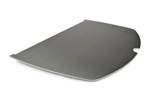 edelstahl grillplatte plancha passend f r alle grills der weber baureihe q100 q1000 baureihe. Black Bedroom Furniture Sets. Home Design Ideas
