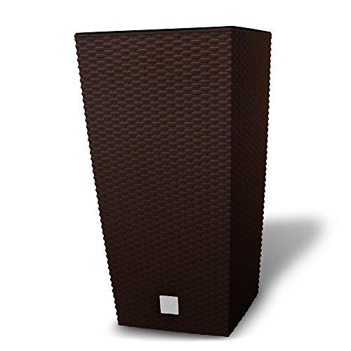 pflanzk bel blumenk bel rattan optik braun 61 cm f r den garten. Black Bedroom Furniture Sets. Home Design Ideas