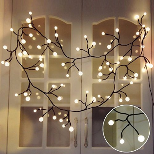 lichterketten innen tofu led lichterkette kugeln wasserdicht warmwei e weihnachtsbeleuchtung. Black Bedroom Furniture Sets. Home Design Ideas