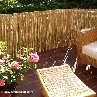 videx sichtschutzmatte schilfrohr f hr 100 x 600cm f r den garten. Black Bedroom Furniture Sets. Home Design Ideas