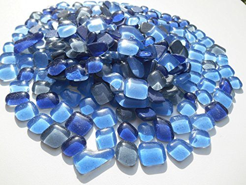 mosaiksteine polygonal 1000g blau grau mix glastropfen lose glassteine zum basteln f r den garten. Black Bedroom Furniture Sets. Home Design Ideas