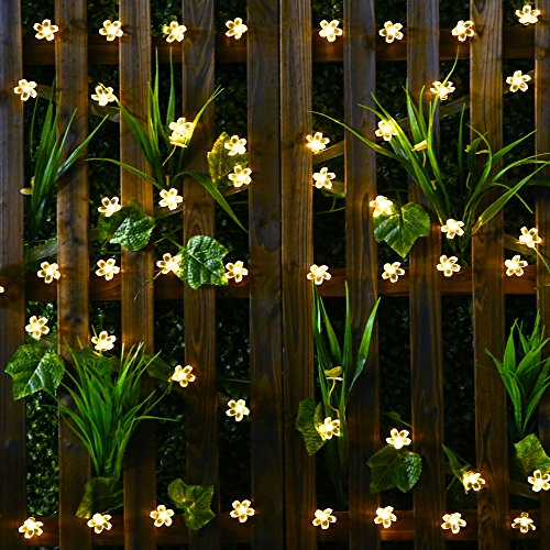 solar string lights solar garden lights mit 50 blume led. Black Bedroom Furniture Sets. Home Design Ideas