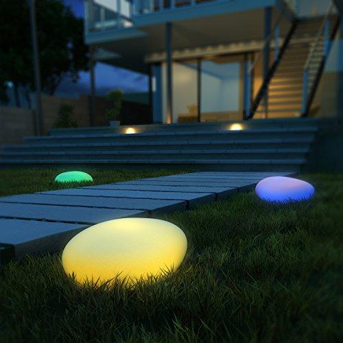 led solarleuchten kealive gartenleuchten kugelleuchte au en 8 verstellbare farben wasserdichte. Black Bedroom Furniture Sets. Home Design Ideas