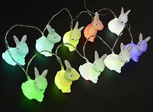 hase ostern led nachtlicht kapmore ostern kaninchen string lichter bunny shaped 10 led. Black Bedroom Furniture Sets. Home Design Ideas
