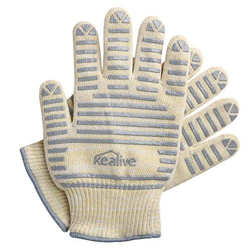hitzebest ndige handschuhe kealive schutz bis 572 f silikonhandschuhe zum kochen grillen bbq. Black Bedroom Furniture Sets. Home Design Ideas