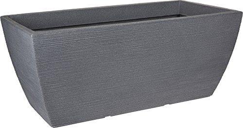 design pflanzk bel gro 80 40 cm xxl kunststoff blumenk bel pflanztrog eckig f r den garten. Black Bedroom Furniture Sets. Home Design Ideas