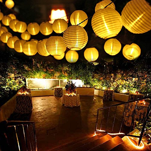 qedertek solar lichterkette led lampion au en 6 meter 30 led 2 lichtarten modi au enlichterkette. Black Bedroom Furniture Sets. Home Design Ideas