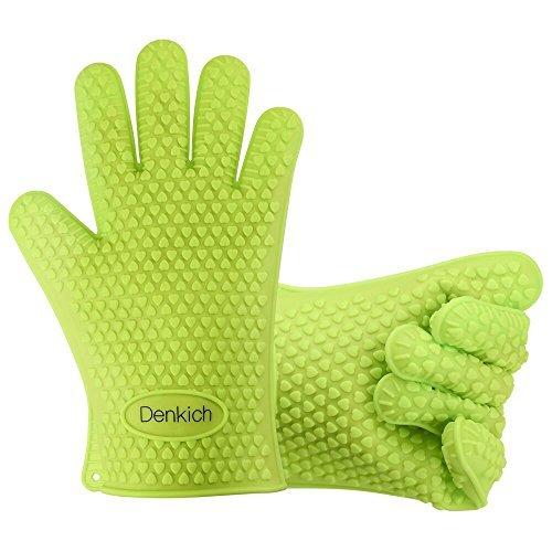 bbq handschuhe denkich silikon grillhandschuhe zum kochen barbecue isolation pads 1 paar. Black Bedroom Furniture Sets. Home Design Ideas