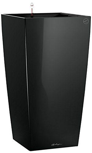 lechuza cubico premium 30 pflanzgef mit erd bew sserungs system schwarz hochglanz 30 x 30. Black Bedroom Furniture Sets. Home Design Ideas