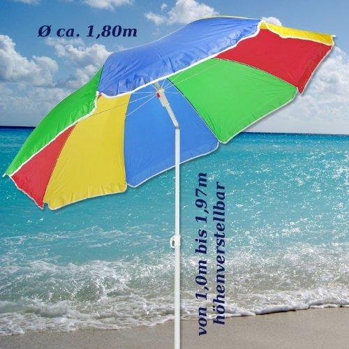 sonnenschirm 180cm strandschirm balkonschirm schirm regenbogen regenbogenfarben f r den garten. Black Bedroom Furniture Sets. Home Design Ideas
