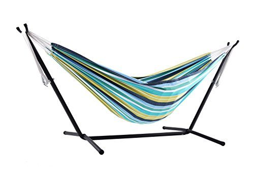 vivere doppel baumwolle h ngematte mit h ngemattengestell 250 cm cayo reef 249x109x104 cm. Black Bedroom Furniture Sets. Home Design Ideas
