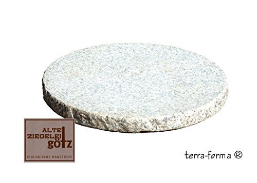 3 st ck trittplatten stepstone granit grau wei durchmsser ca 35 cm f r den garten. Black Bedroom Furniture Sets. Home Design Ideas