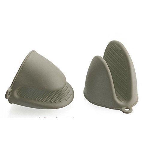 silikon topflappen ofen mini handschuhe kochen pinch griff 2 st ck grau f r den garten. Black Bedroom Furniture Sets. Home Design Ideas