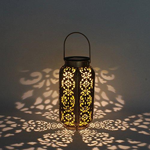 ledmomo led solarlaternen die schattenbild solarleuchten wasserdichte hexagonlampe f r patio. Black Bedroom Furniture Sets. Home Design Ideas