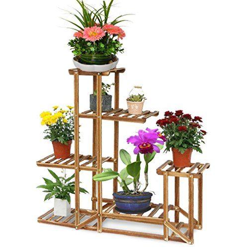 malayasblumenregal blumen rack aus massivholz mit mehr pflanzentreppe f r innen balkon wohzimmer. Black Bedroom Furniture Sets. Home Design Ideas