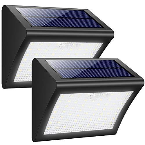 trswyop solarleuchte au en 2 st ck 60 led solarlampen wasserdicht solarlicht mit. Black Bedroom Furniture Sets. Home Design Ideas