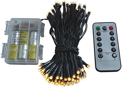 led lichterkette batterie 24 48 96 mit timer und teilweise mit fernbedienung gr nes kabel f r