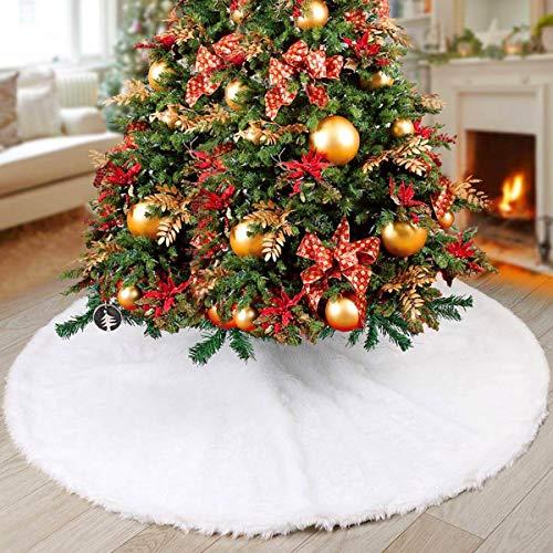 ntmy weihnachtsbaum rock wei pl sch kunstpelz f r. Black Bedroom Furniture Sets. Home Design Ideas